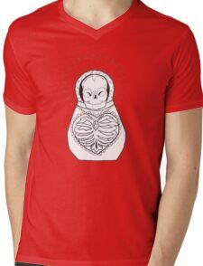 Skeleton Matrioska Mens V-Neck T-Shirt