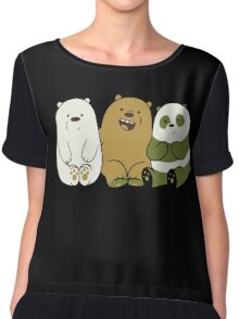 We bare bears cute Chiffon Top