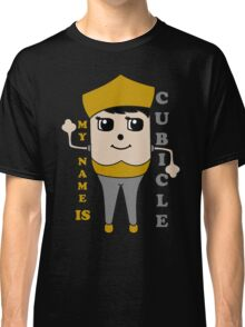 My Name is Cubicle - Cute Cartoon Vector Classic T-Shirt