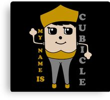 My Name is Cubicle - Cute Cartoon Vector Canvas Print