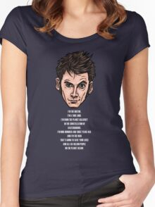 10th Doctor Women's Fitted Scoop T-Shirt