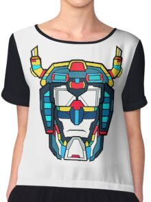 Voltron Head Defender Chiffon Top