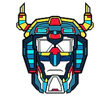 Voltron Head Defender Photographic Print