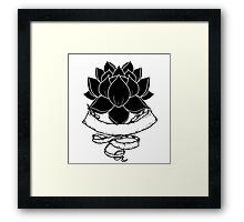 Lotus With Ribbon Framed Print