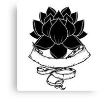 Lotus With Ribbon Canvas Print