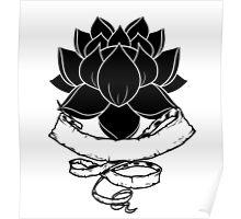 Lotus With Ribbon Poster