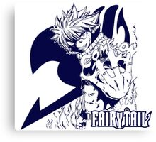 Come On - Natsu Dragneel Fairy Tail Anime (Blue) Canvas Print