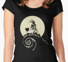nightmare Before Christmas -freddy krueger Women's Fitted Scoop T-Shirt
