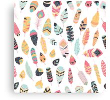 Tribal feather pattern 001 Canvas Print