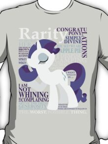 The Many Words of Rarity T-Shirt