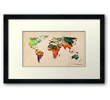 map Framed Print