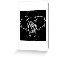 Elephant in White Greeting Card