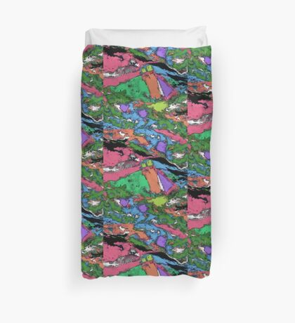 Mapping points Duvet Cover