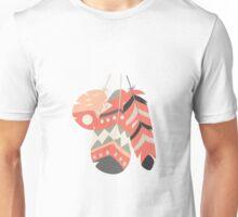 Tribal feather pattern 004 Unisex T-Shirt