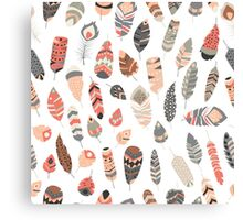 Tribal feather pattern 004 Canvas Print