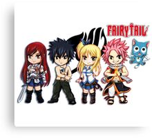 The Group of Fairy Tail Anime Canvas Print