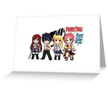 The Group of Fairy Tail Anime Greeting Card