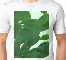 Cactus On Cyan Unisex T-Shirt