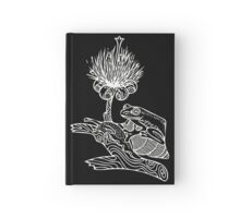 Frog on Snail in White Hardcover Journal