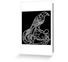 Crow in White Greeting Card