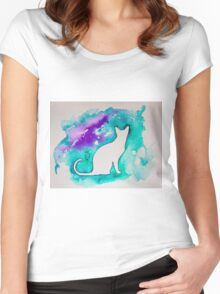 Kitty cat  Women's Fitted Scoop T-Shirt