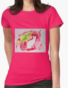 Cat in red Womens Fitted T-Shirt