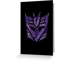 Transformers - Decepticon Wordtee Greeting Card