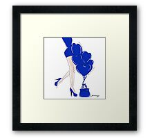 Blue is The Color of My Style Framed Print