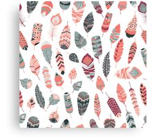 Tribal feather pattern 006 Canvas Print