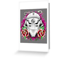 traditional alphonse elric helmet Greeting Card