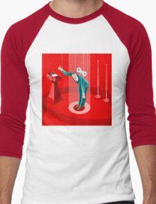 Election Politics System Infographic Men's Baseball ¾ T-Shirt