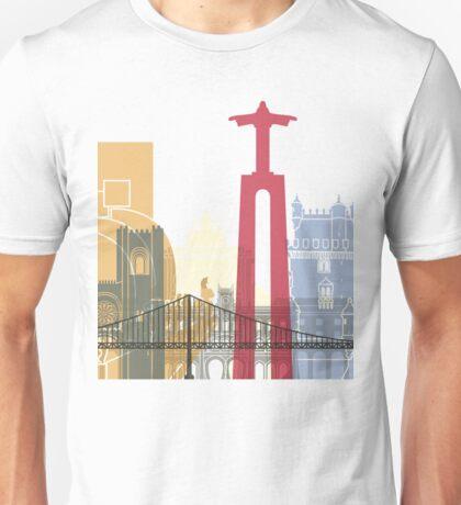 Lisbon skyline poster Unisex T-Shirt