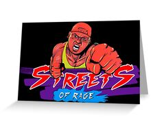 Streets of Rage - Skate Greeting Card