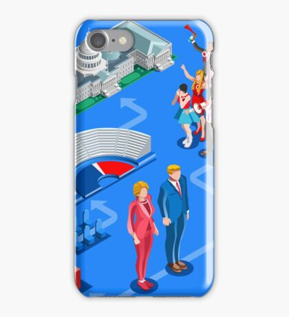 USA Political Elections Infographic iPhone Case/Skin