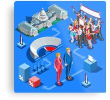 USA Political Elections Infographic Metal Print
