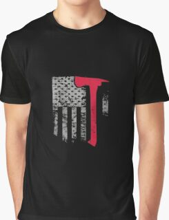 Thin Red Line Firefighter American Flag shirt Graphic T-Shirt