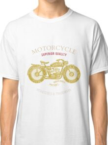 vintage motorcycle design for tee shirt graphic print Classic T-Shirt