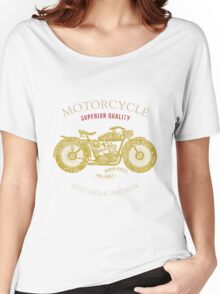 vintage motorcycle design for tee shirt graphic print Women's Relaxed Fit T-Shirt