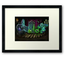 Haunted Monsters Inc Framed Print