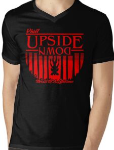 Visit Upside Down Mens V-Neck T-Shirt