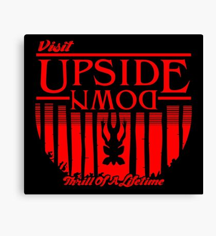 Visit Upside Down Canvas Print