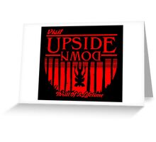 Visit Upside Down Greeting Card
