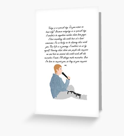 Justin Bieber Purpose Speech Greeting Card