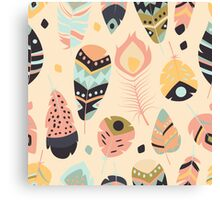 Tribal feather pattern 010 Canvas Print