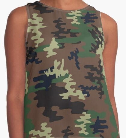 Colorful Camouflage seamless pattern.Woodland style Contrast Tank