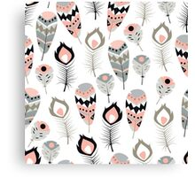 Tribal feather pattern 013 Canvas Print