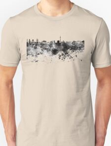 Berlin skyline in black watercolor Unisex T-Shirt