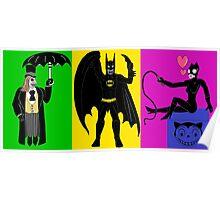 Batman Returns Trio Poster