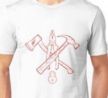 Vintage Crossed Handtools T-shirt Print design. illustration Unisex T-Shirt