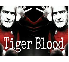 Charlie Sheen Tiger Blood Photographic Print